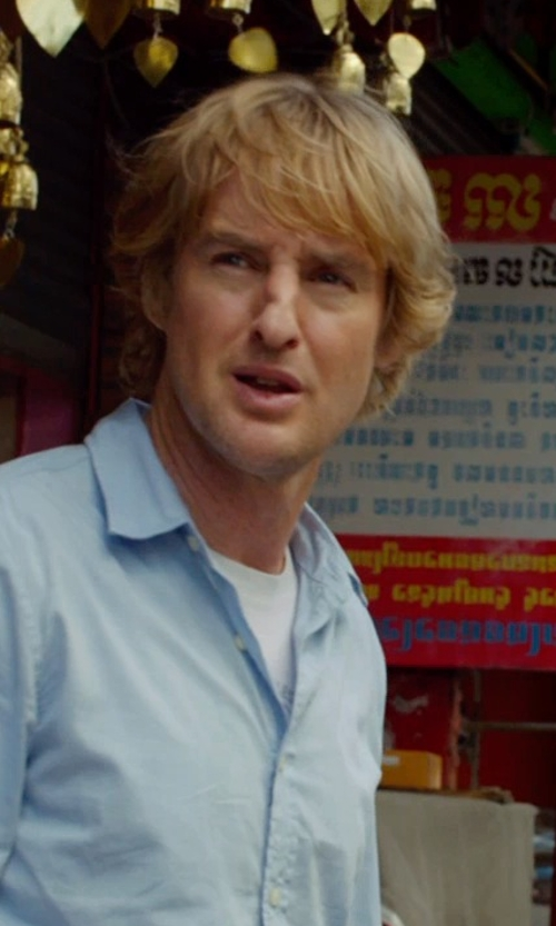 Owen Wilson with Polo Ralph Lauren Slim Fit Crewneck T-Shirt in No Escape
