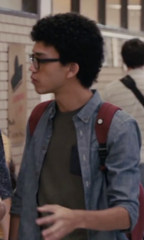 Justice Smith with Superdry Festival Pocket T-Shirt in Paper Towns