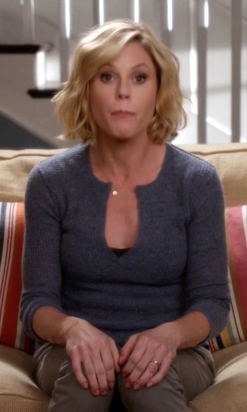 Julie Bowen with Joe Fresh Slit Neck Sweater in Modern Family
