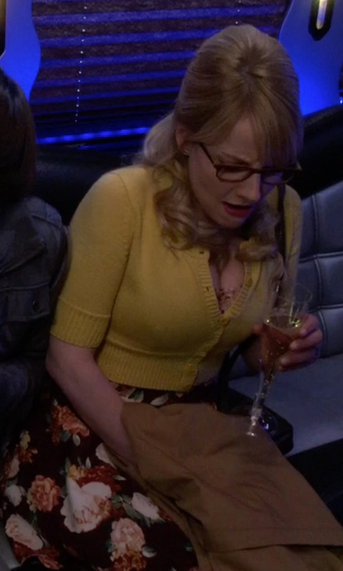 Melissa Rauch with Maggy London Floral Print Faille Fit & Flare Dress in The Big Bang Theory