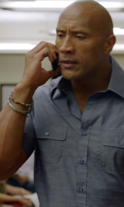 Dwayne Johnson with M.Cohen Handmade Designs Wax Cord & Brass Cornerless Bead Bracelet in Ballers