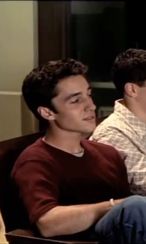 Thomas Ian Nicholas with John Varvatos Short-Sleeved Linen-Jersey T-Shirt in American Pie
