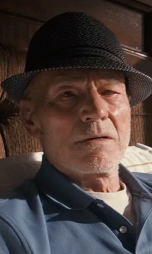 Patrick Stewart with Bailey of Hollywood Mannes Trilby Hat in Logan