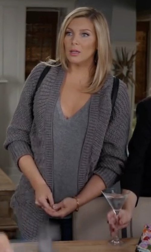 June Diane Raphael with Monrow Knit Cardigan in Grace and Frankie