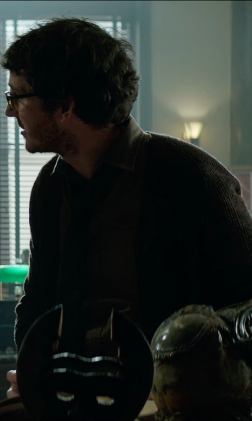 Tate Ellington with Pendleton Shetland Cardigan Sweater in Sinister 2