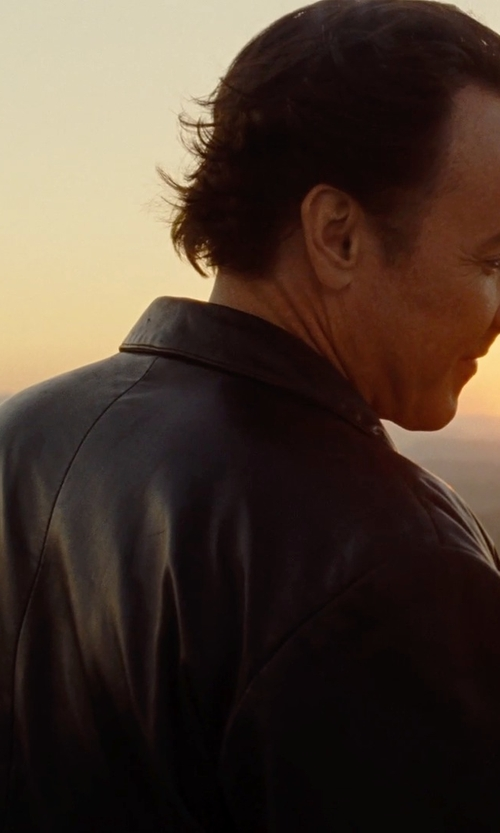 John Cusack with Cole Haan Smooth Leather Collar Jacket in Love & Mercy