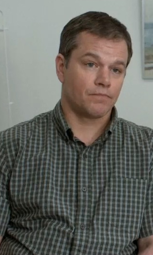 Matt Damon with Joe's Jeans Slim Fit Short Sleeve Shirt in Downsizing