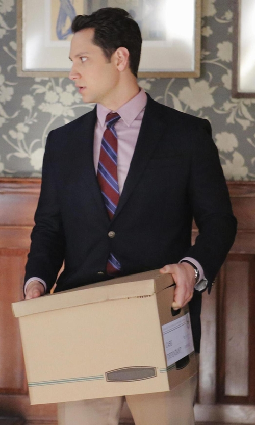 Matt McGorry with Saks Fifth Avenue Slim-Fit Textured Wool Sport Coat in How To Get Away With Murder