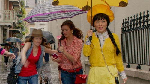Hana Mae Lee with Sparrow Midi Pointelle Cardigan in Pitch Perfect 2