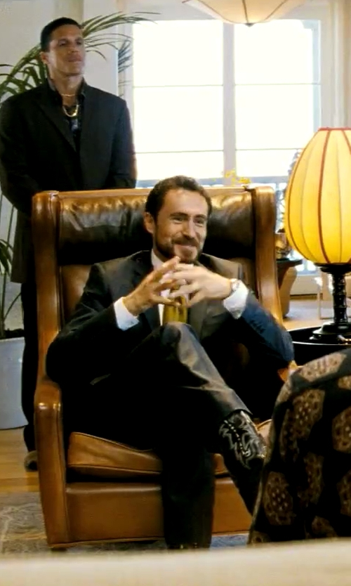 Demian Bichir with Saks Fifth Avenue Black Classic-Fit Wool Two-Button Tuxedo in Savages