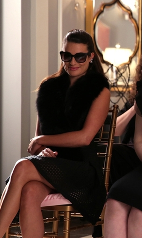 Lea Michele with BVLGARI Square Sunglasses in Scream Queens