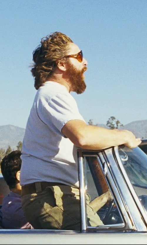 Zach Galifianakis with The Hangover Weekend Forecast Heather Gray T-Shirt in The Hangover