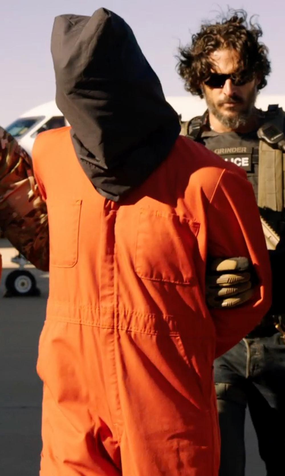 Unknown Actor with Underwraps Mens Prison Jumpsuit in Sabotage