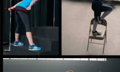 Hana Mae Lee with Adidas Superstar 2 Navy Blue/White Sneakers in Pitch Perfect 2
