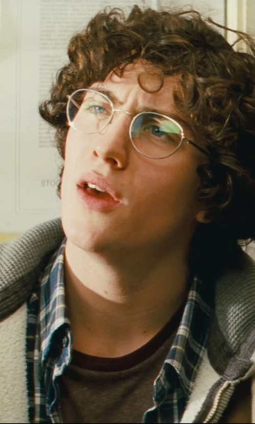 Aaron Taylor-Johnson with Foster Grant Oval Reading Glasses in Kick-Ass