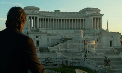 Unknown Actor with Altar Of The Fatherland Rome, Italy in John Wick: Chapter 2