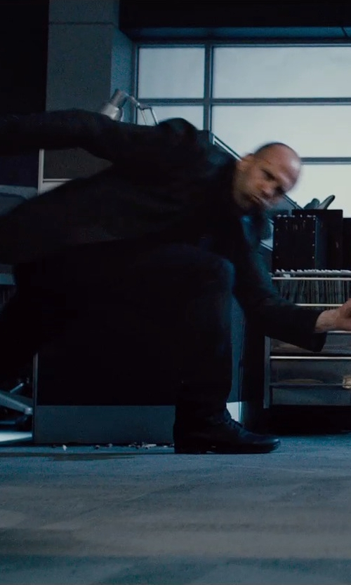 Jason Statham with Emporio Armani Classic Oxford Shoes in Furious 7