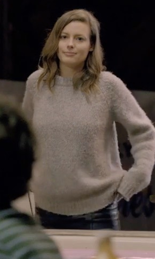 Gillian Jacobs with Saks Fifth Avenue Collection Cashmere Crewneck Sweater in Love