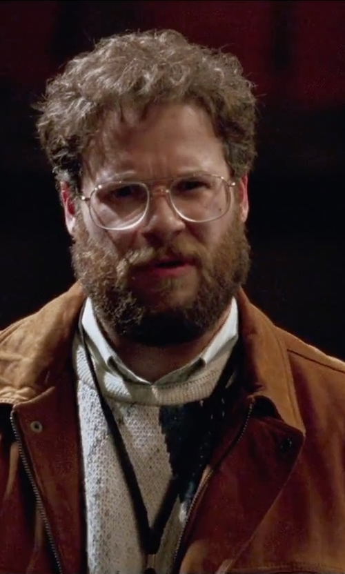Seth Rogen with Gant Rugger Jacquard Knit Crewneck Sweater in Steve Jobs