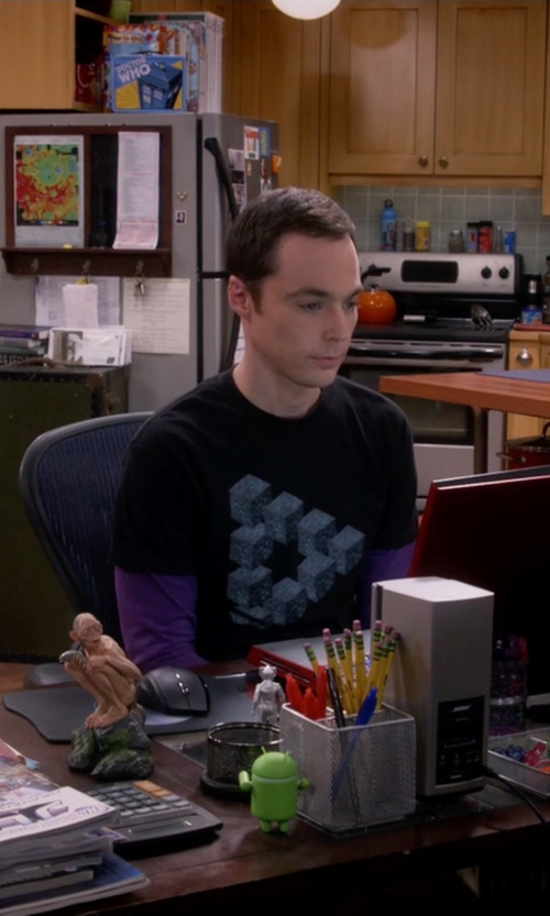 Jim Parsons with Think Geek Minecraft Diamond In the Rough Tee in The Big Bang Theory