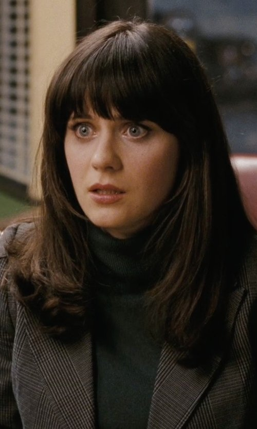 Zooey Deschanel with La Redoute Womens Roll-Neck Sweater in (500) Days of Summer