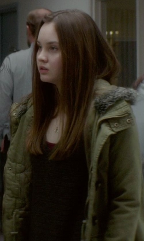 Liana Liberato with PattyBoutik Boat Neck/One Shoulder Batwing Long Sleeve Sweater in If I Stay