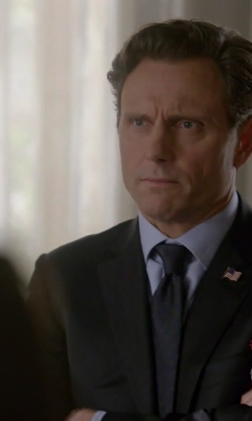 Tony Goldwyn with Brooks Brothers Textured Solid Tie in Scandal