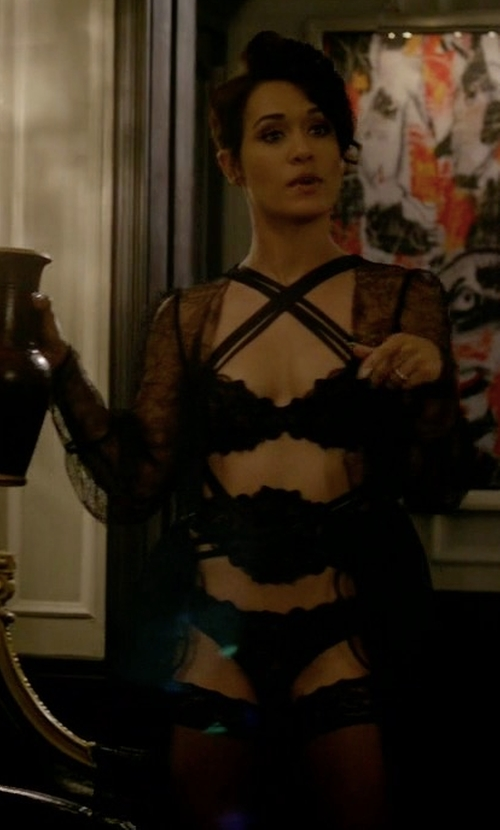 Grace Gealey with Agent Provocateur Deziree Gown in Empire