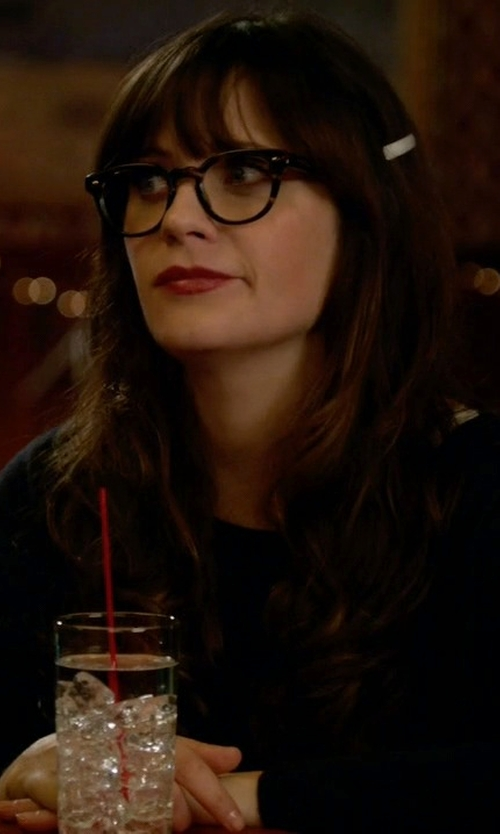 Zooey Deschanel with Wildfox Baggy Beach Pullover Sweater in New Girl