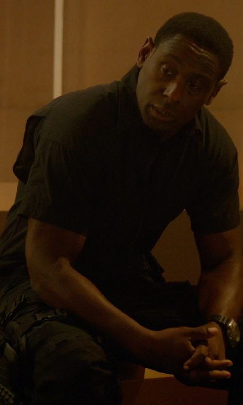David Harewood with Bulova Sea King Analog Watch in Supergirl