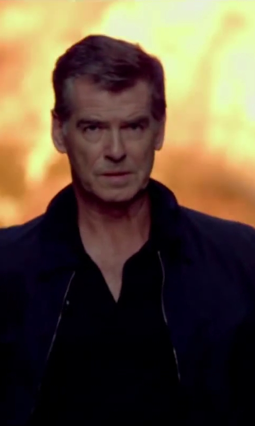 Pierce Brosnan with Brioni Classic Polo Shirt in The November Man