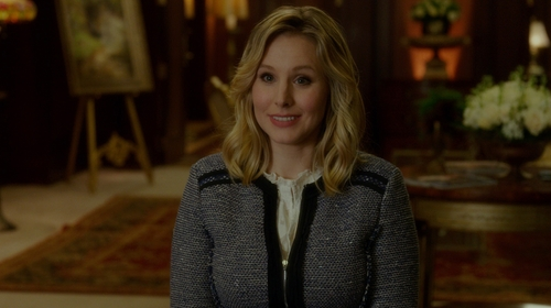 Kristen Bell with Rebecca Taylor Sparkle Star Jacket in The Boss
