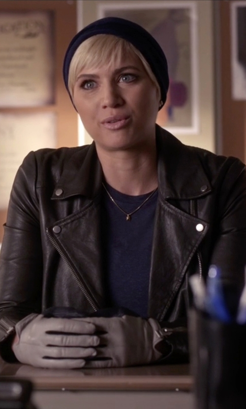 Dre Davis with Lulu's Live It Up Black Vegan Leather Jacket in Pretty Little Liars