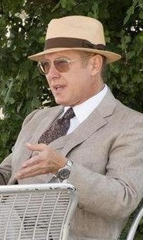 James Spader with JJ Hat Center The Camden Hat in The Blacklist