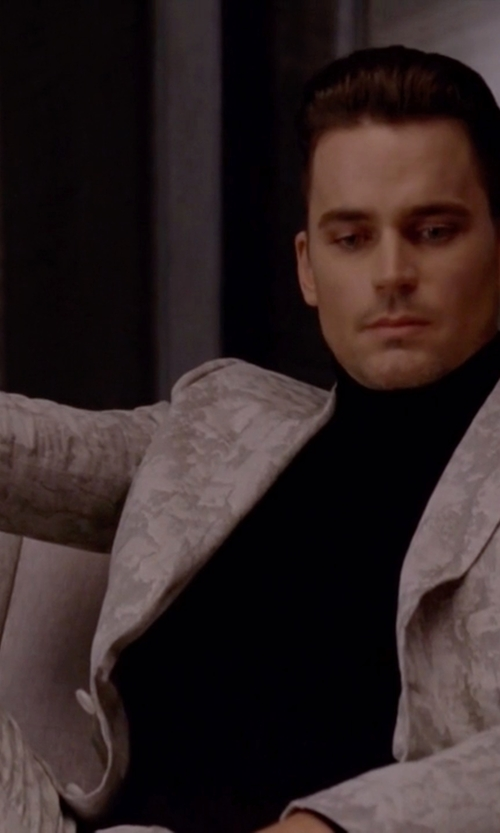 Matt Bomer with Les Hommes Geometric Jacquard Suit in American Horror Story