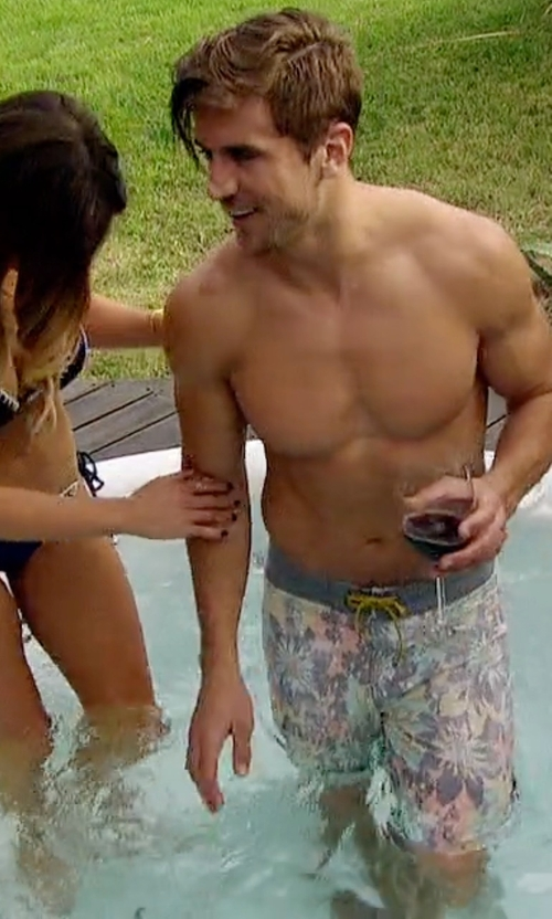 Jordan with Saks Fifth Avenue Collection  Palm Leaf Swim Trunks in The Bachelorette