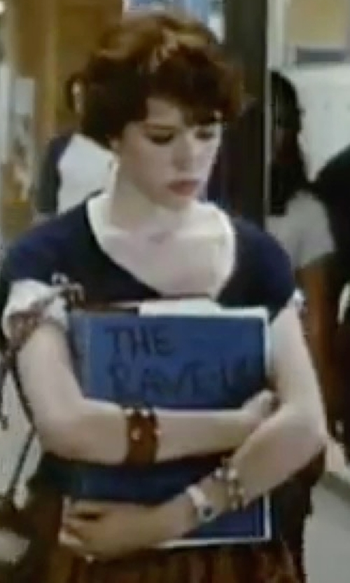 Molly Ringwald with Burgi Steel Strap Watch in Sixteen Candles