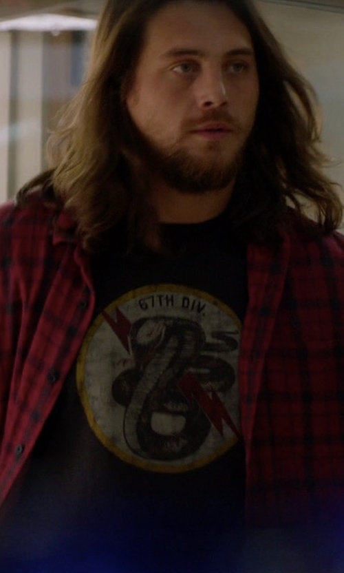 Ben Robson with Ralph Lauren Cobra Division Graphic T-Shirt in Animal Kingdom
