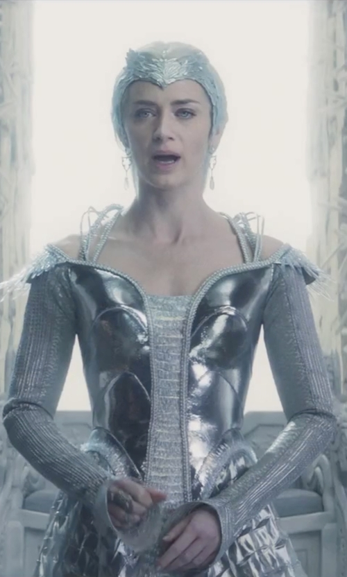 Emily Blunt with Colleen Atwood (Costume Designer) Custom Made 'Freya' Armored Dress in The Huntsman: Winter's War