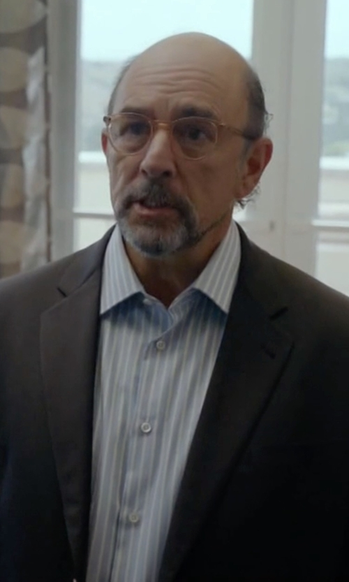Richard Schiff with Brioni Blue Striped Dress Shirt in Ballers
