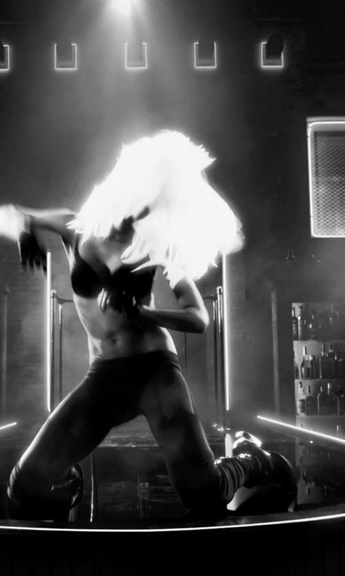 Jessica Alba with Vince Laird Leather Ankle Boots in Frank Miller's Sin City: A Dame To Kill For