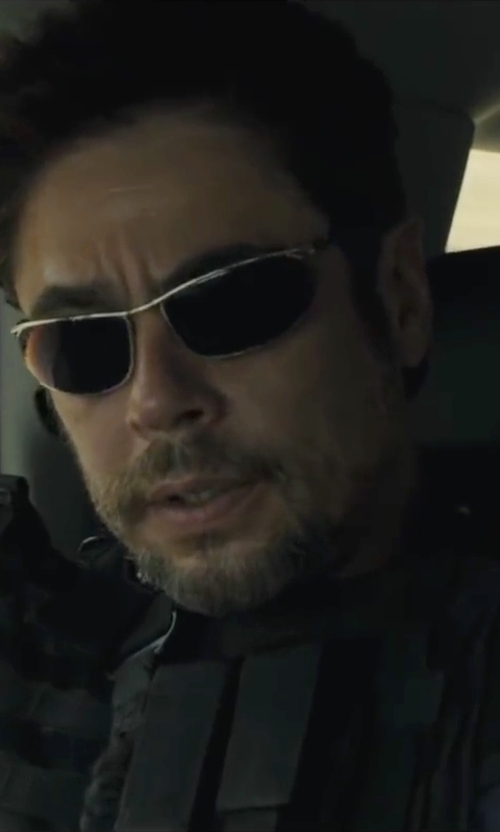 Benicio Del Toro with IZOD 736 Prescription Glasses in Sicario