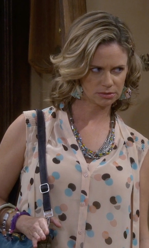 Andrea Barber with Woolrich Somerset Sleeveless Shirt in Fuller House