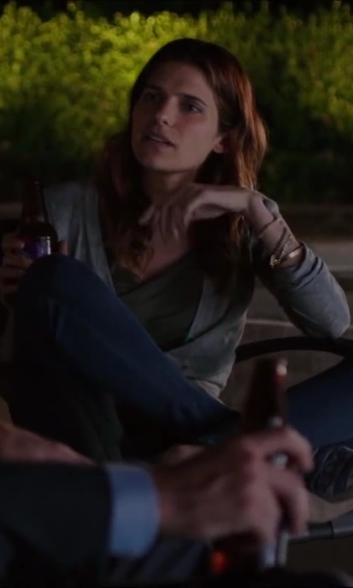 Lake Bell with Tory Burch 'Simone' Cotton Cardigan in Million Dollar Arm