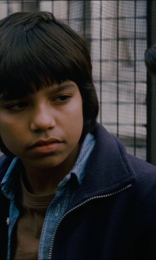 Tyler Dean Flores with Old Navy Boys Uniform Terry-Fleece Jackets in The Dark Knight Rises