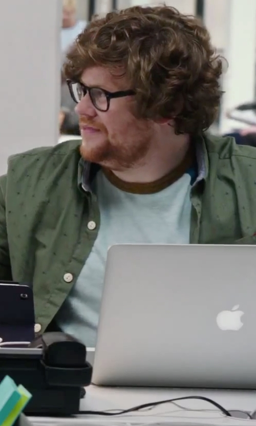 Zack Pearlman with Costumein Print Shirt in The Intern