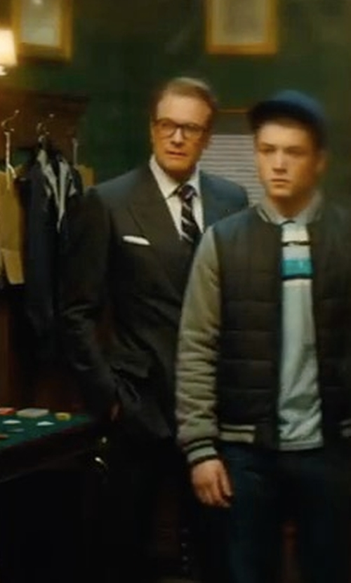 Colin Firth with Cutler And Gross Tortoiseshell Acetate Square-Frame Optical Glasses in Kingsman: The Golden Circle