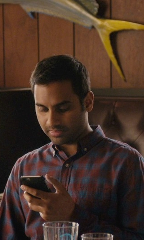 Aziz Ansari with Brooks Brothers Flannel Check Sport Shirt in Master of None