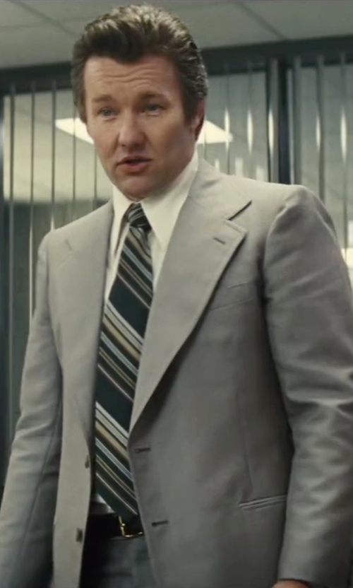 Joel Edgerton with Andrew Marc Two Piece Wool Suit in Black Mass