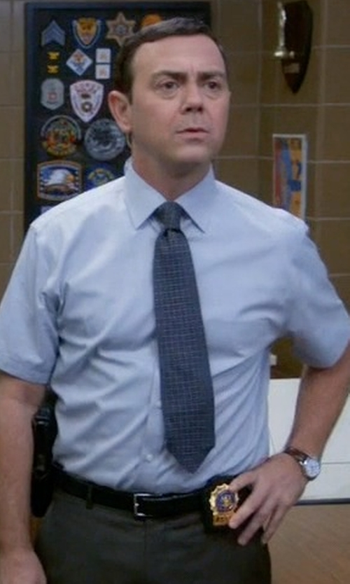 Joe Lo Truglio with Bosca Leather Belt in Brooklyn Nine-Nine